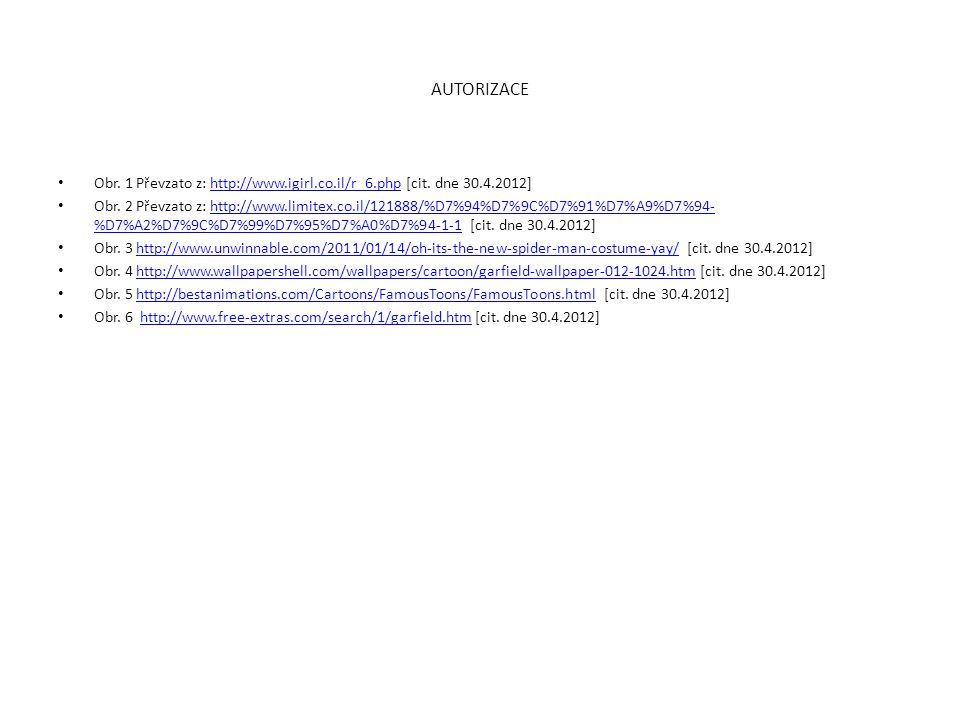 AUTORIZACE Obr. 1 Převzato z: http://www.igirl.co.il/r_6.php [cit. dne 30.4.2012]
